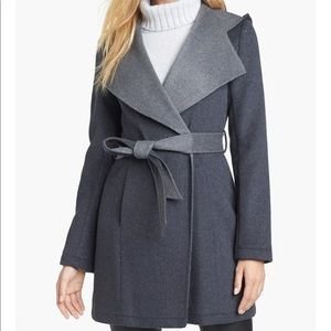Hooded Wrap Coat Size XS Shelli Segal Laundry